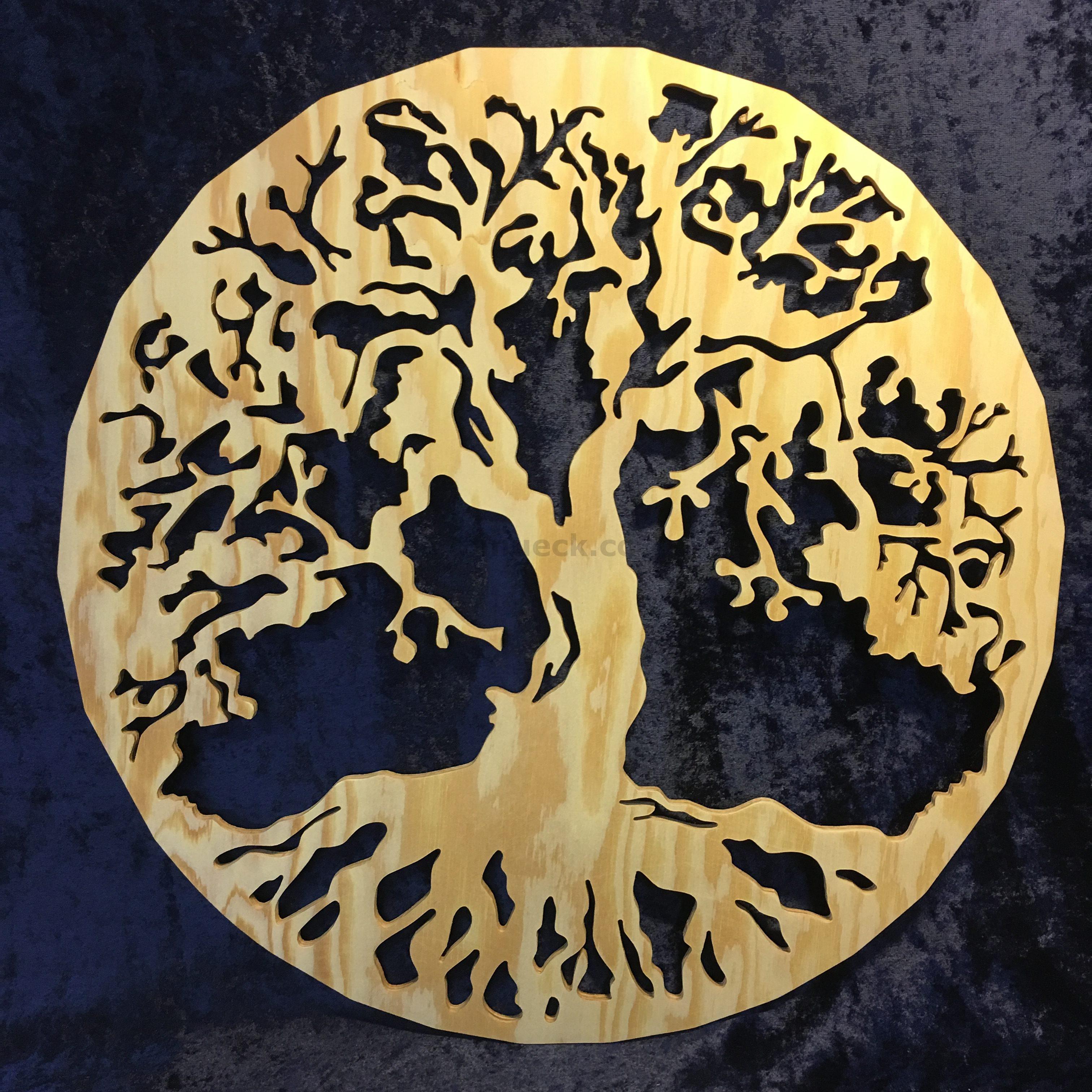 Baum Des Lebens Kiefer Sperrholz Kunst Aus Holz